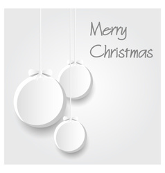 three white paper christmas decoration baubles vector image vector image