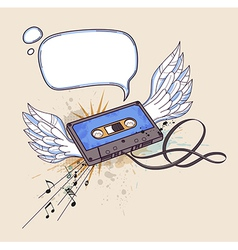 audiocassette vector image