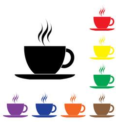 black coffee cup icon vector image