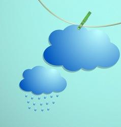Cloud and rain drops icon hang on string vector image vector image