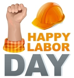 Happy Labor Day Template greeting card vector image vector image