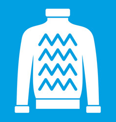 men sweater icon white vector image vector image