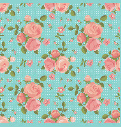seamless pattern of blooming roses vector image
