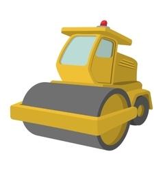 Yellow paver cartoon vector image