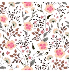 cute little pink flowers seamless pattern vector image vector image