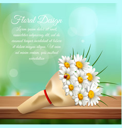 daisy realistic gentle composition vector image vector image