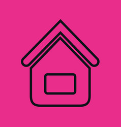 Home house flat line icon vector