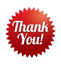 Thank you tag Red sticker Icon for web vector image vector image