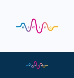 Wave audio sound logo vector