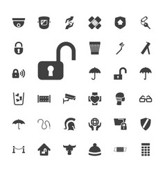 33 protection icons vector