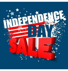 4th july sale background vector image