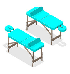 A massage table isometric style vector