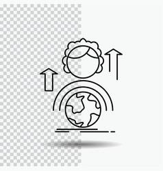 Abilities development female global online line vector