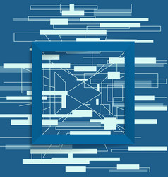 abstract geometric frame square vector image