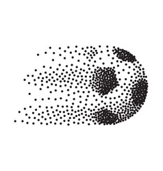 abstract soccer ball in motion made from black vector image