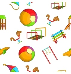 Attractions for children pattern cartoon style vector
