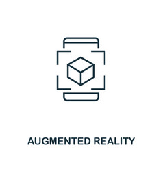 augmented reality icon monochrome style design vector image