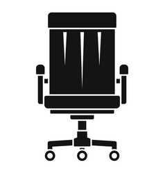 boss leather chair icon simple style vector image