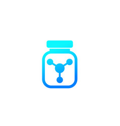bottle chemicals icon vector image