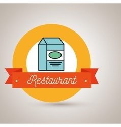 box milk carton restaurant vector image