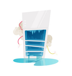 broken fridge vector image