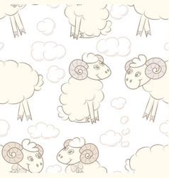 cartoon sheep in the sky vector image
