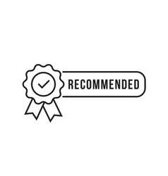 Certify line icon like recommended vector
