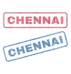 Chennai textile stamps vector