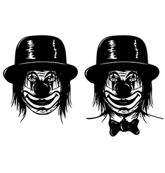 clown in head vector image