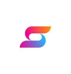 color letter s logo icon design vector image