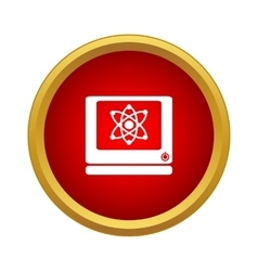Computer monitor icon simple style vector image