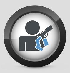 Concept armed man vector