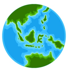 cute globe cartoon vector image