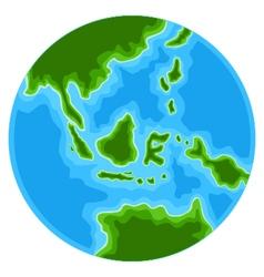 Cute globe cartoon vector