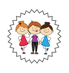Cute kids avatars character vector