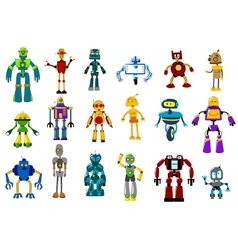Cyborgs robots and aliens set vector image