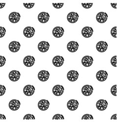 Delicious italian pizza lifted slice one pattern vector
