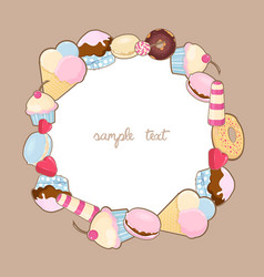 Desserts frame vector