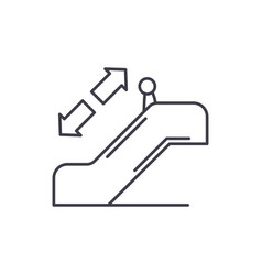 escalator line icon concept escalator vector image