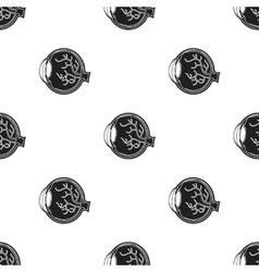 Eyeball icon in black style isolated on white vector image