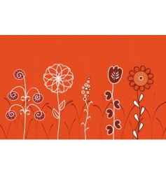 fantastic flowers vector image