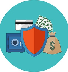 Financial security concept Flat design Icon in vector image
