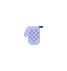 flat kitchen glove icon vector image