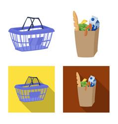 Food and drink symbol set vector