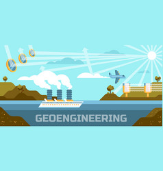 Geoengineering concept vector