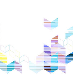 geometric triangle template abstract background vector image