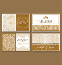 gift card with ornaments and text set banners vector image