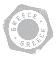 Greece stamp rubber grunge vector