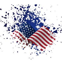Grunge american flag flag usa united vector