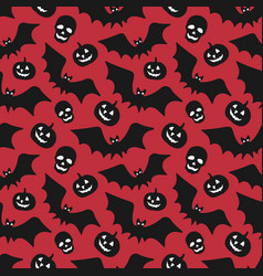 hand-drawn halloween seamless pattern with vector image